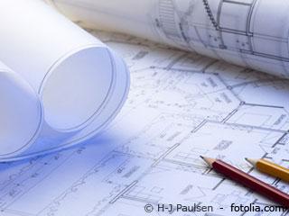 Bauingenieure beim Hausbau