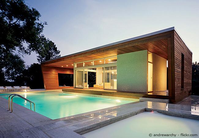 modernes Blockhaus
